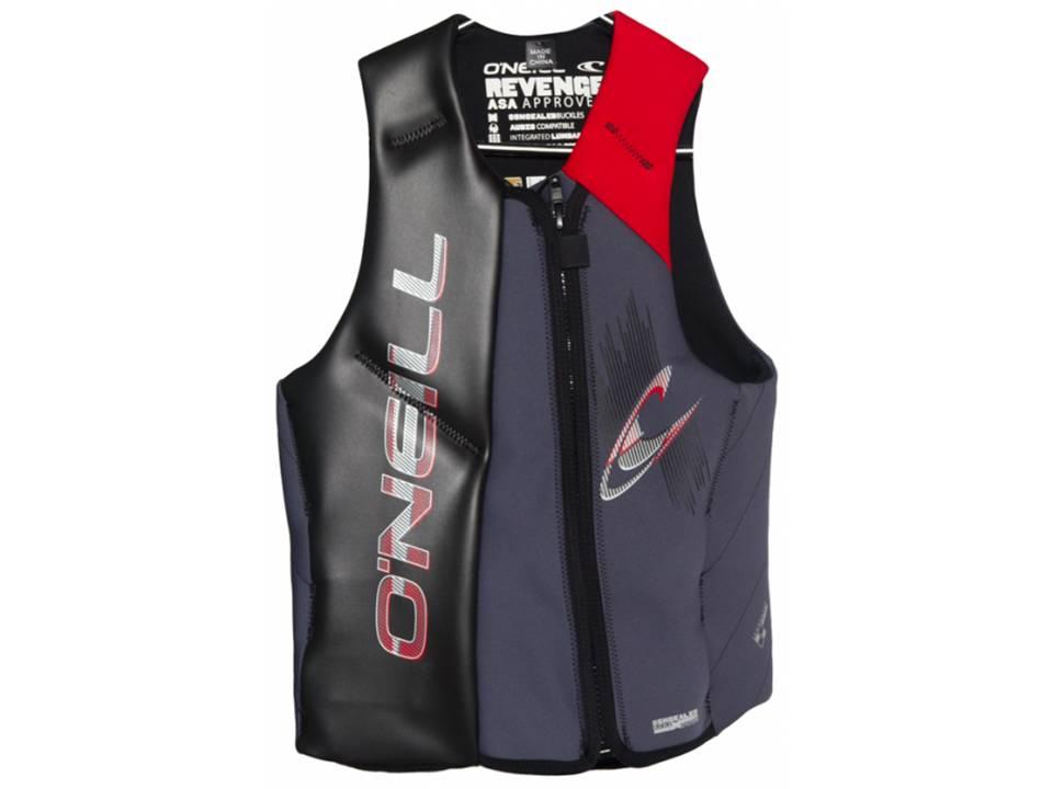 O'Neill Revenge Black_Graph_Red CGA Life Vest